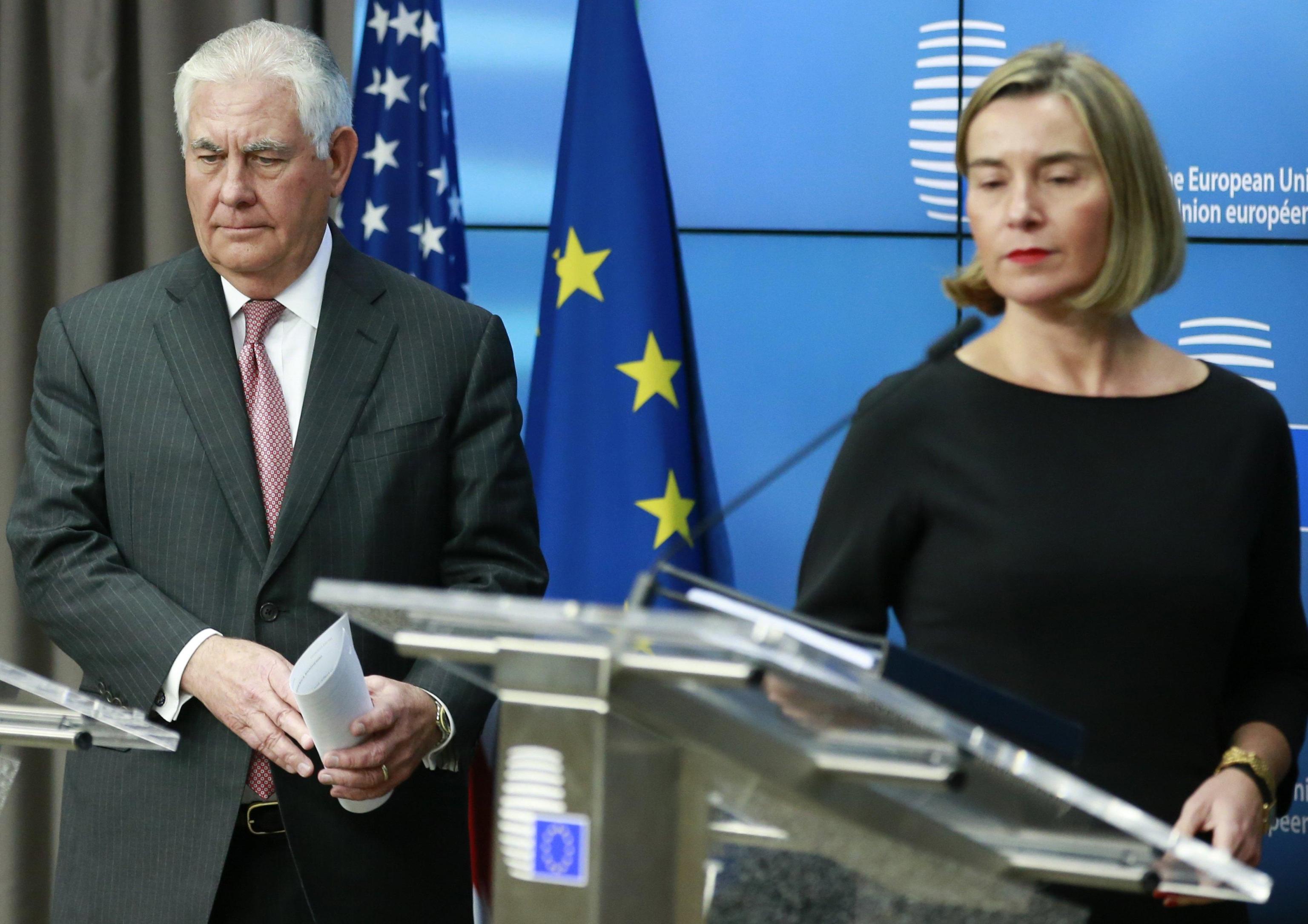 Tillerson a Bruxelles vede Mogherini