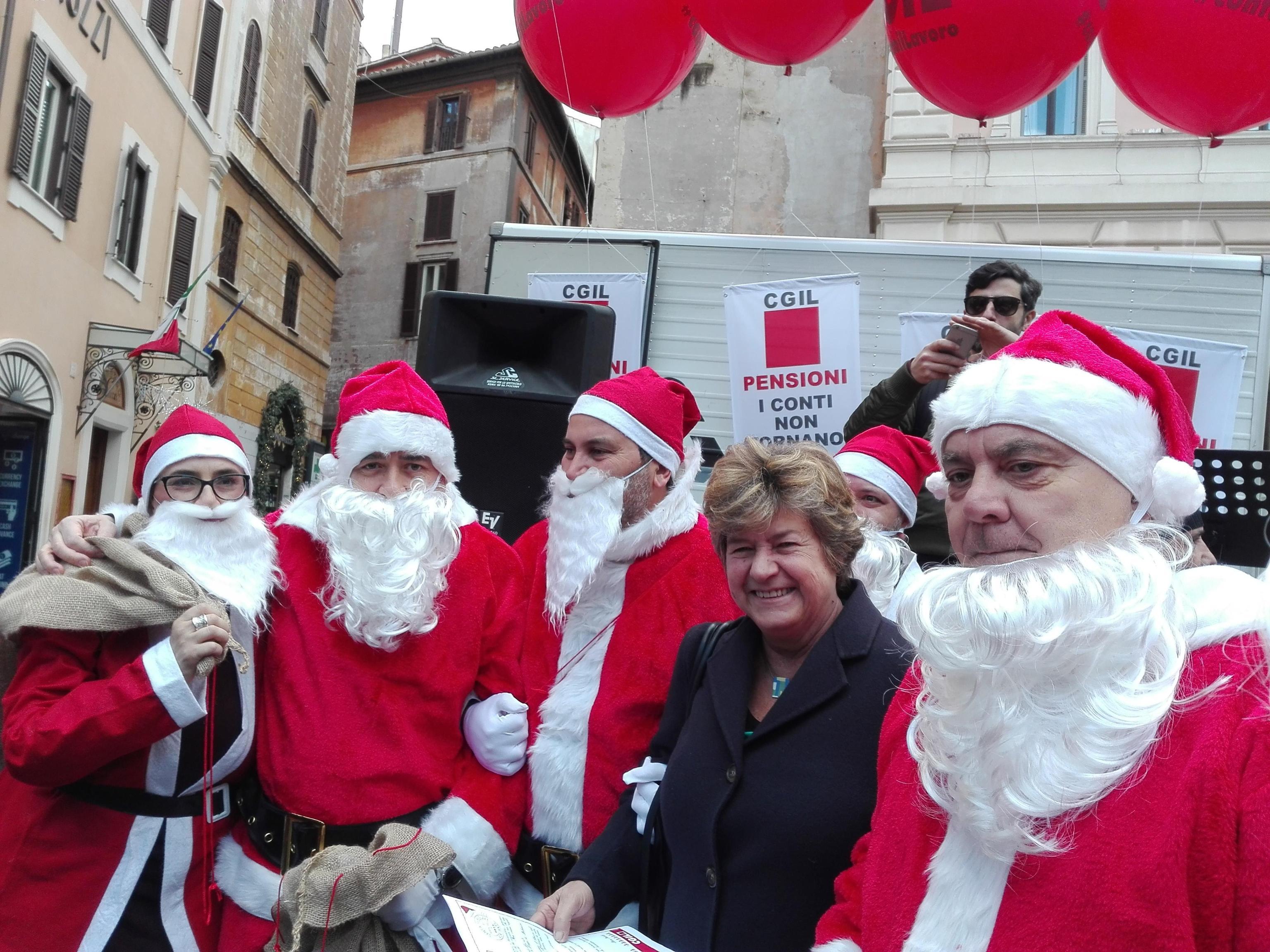 Cgil,lettere Babbo Natale a parlamentari
