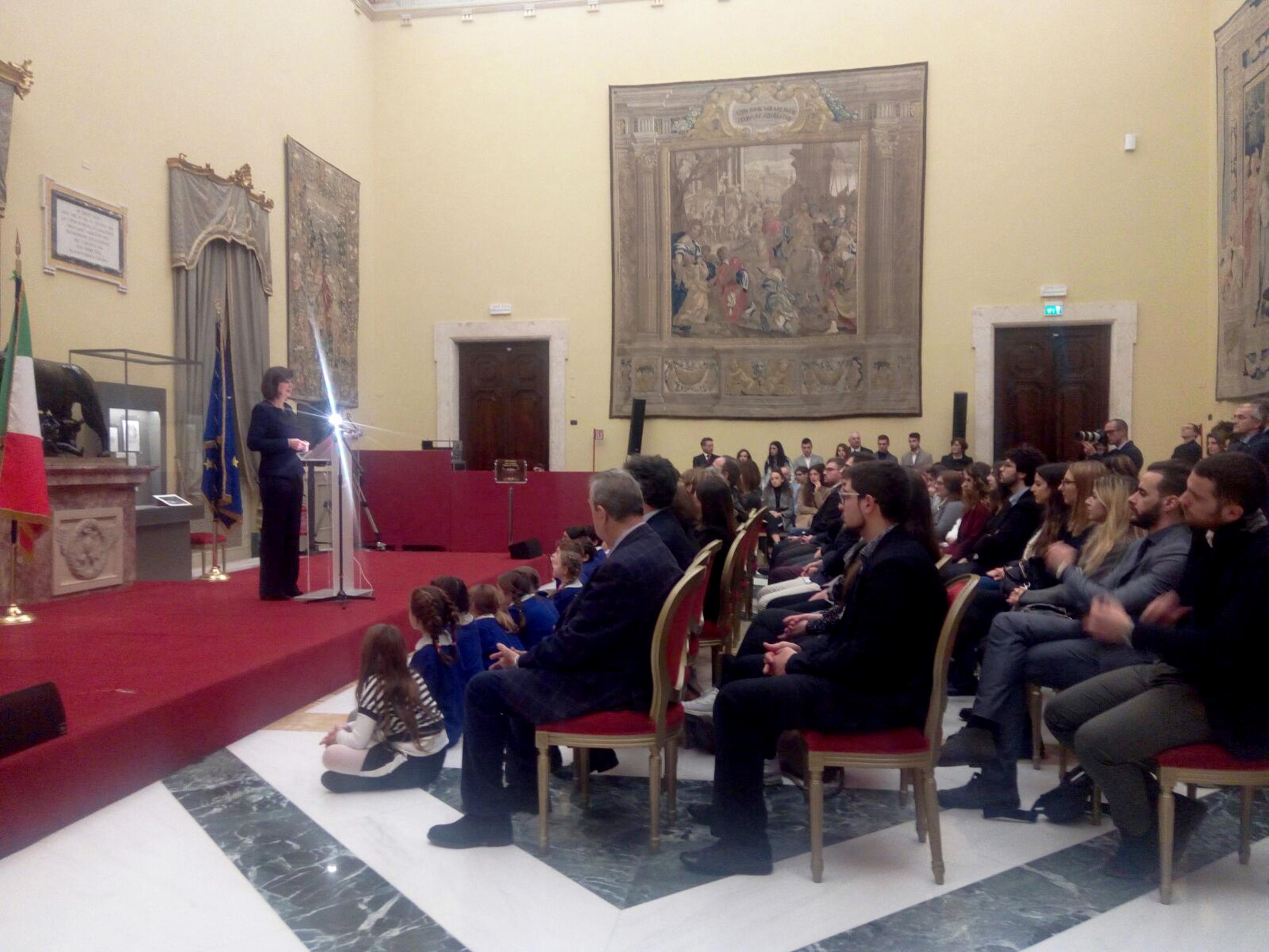 Boldrini riceve delegazione Camerino