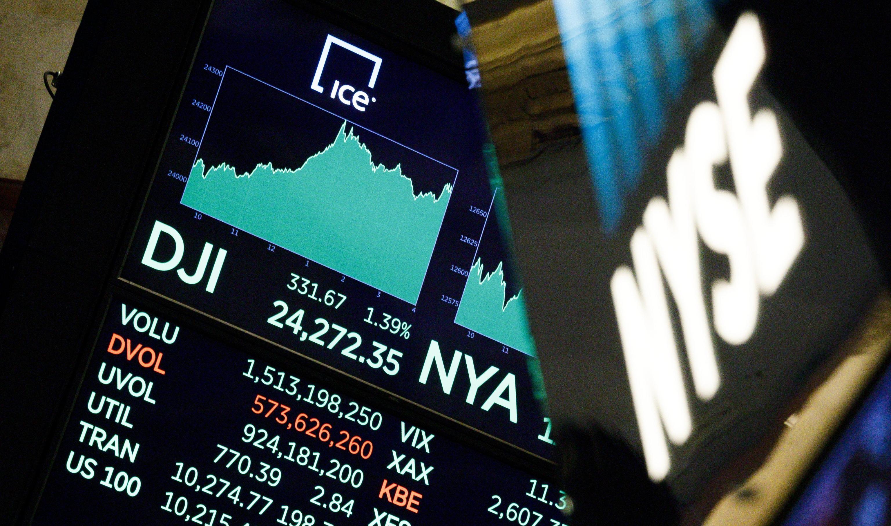 Borsa:Wall Street apre in altalena