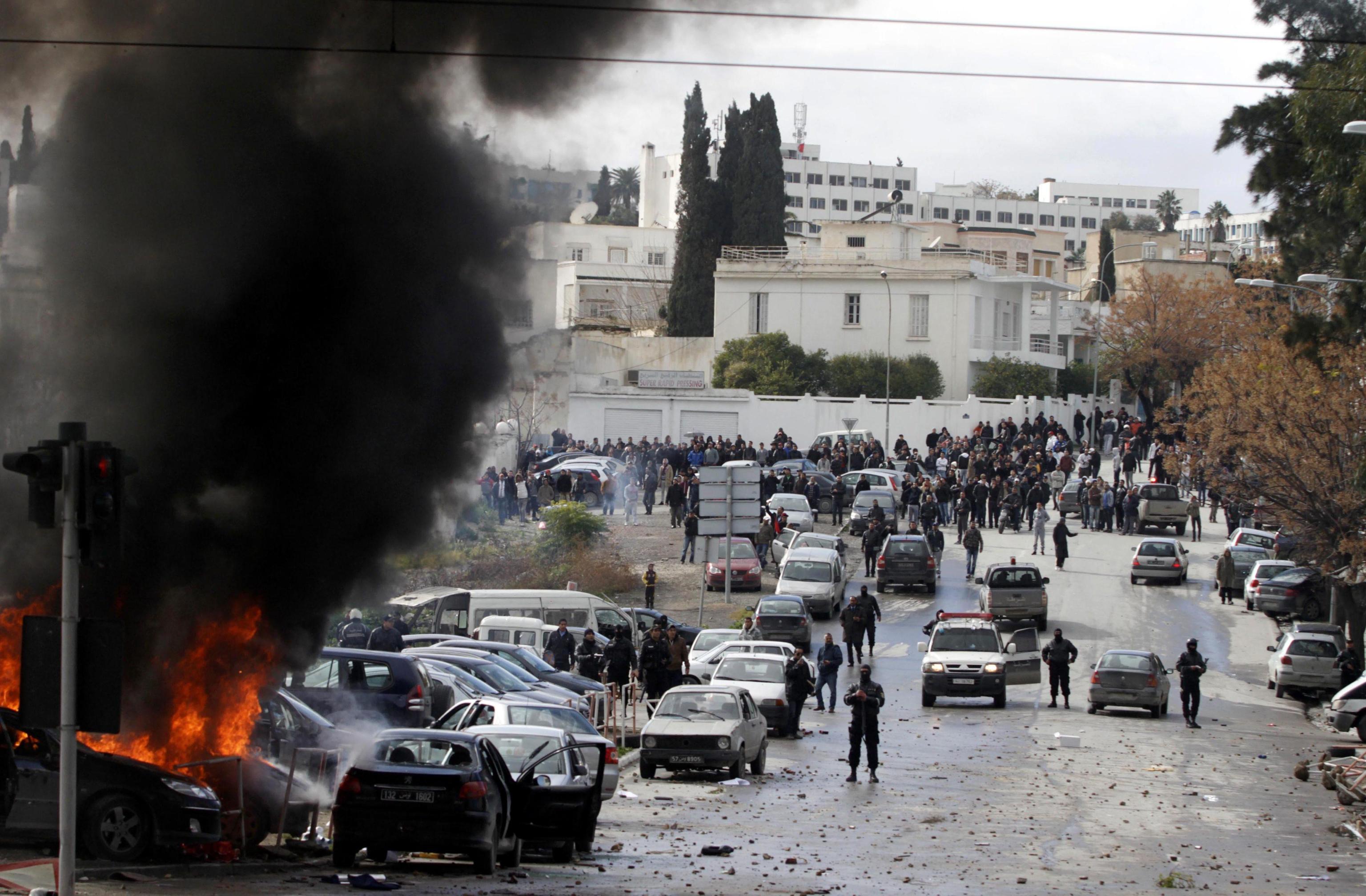 Disordini ieri a Tunisi