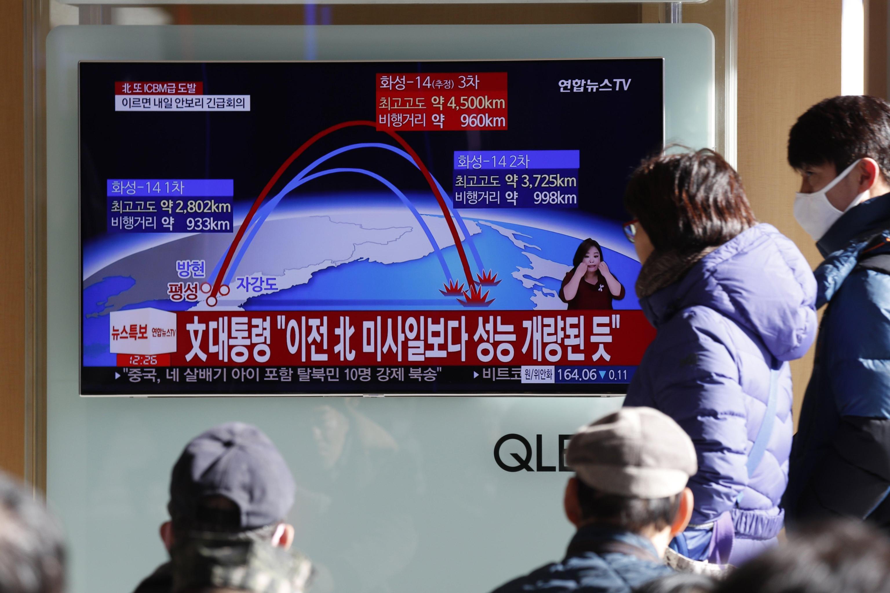 Equipaggio Cathay ha visto missile Corea