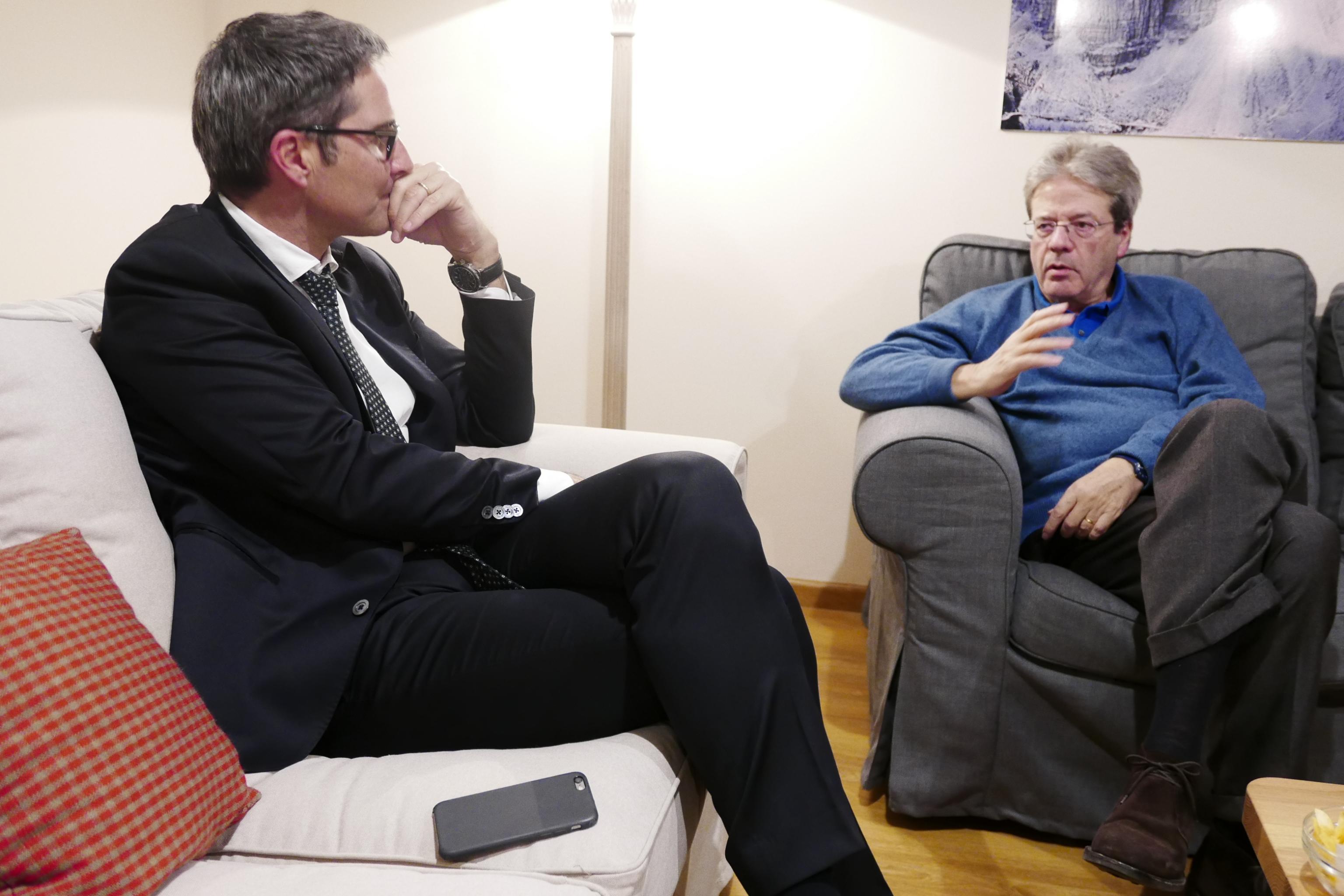 Kompatscher incontra Gentiloni