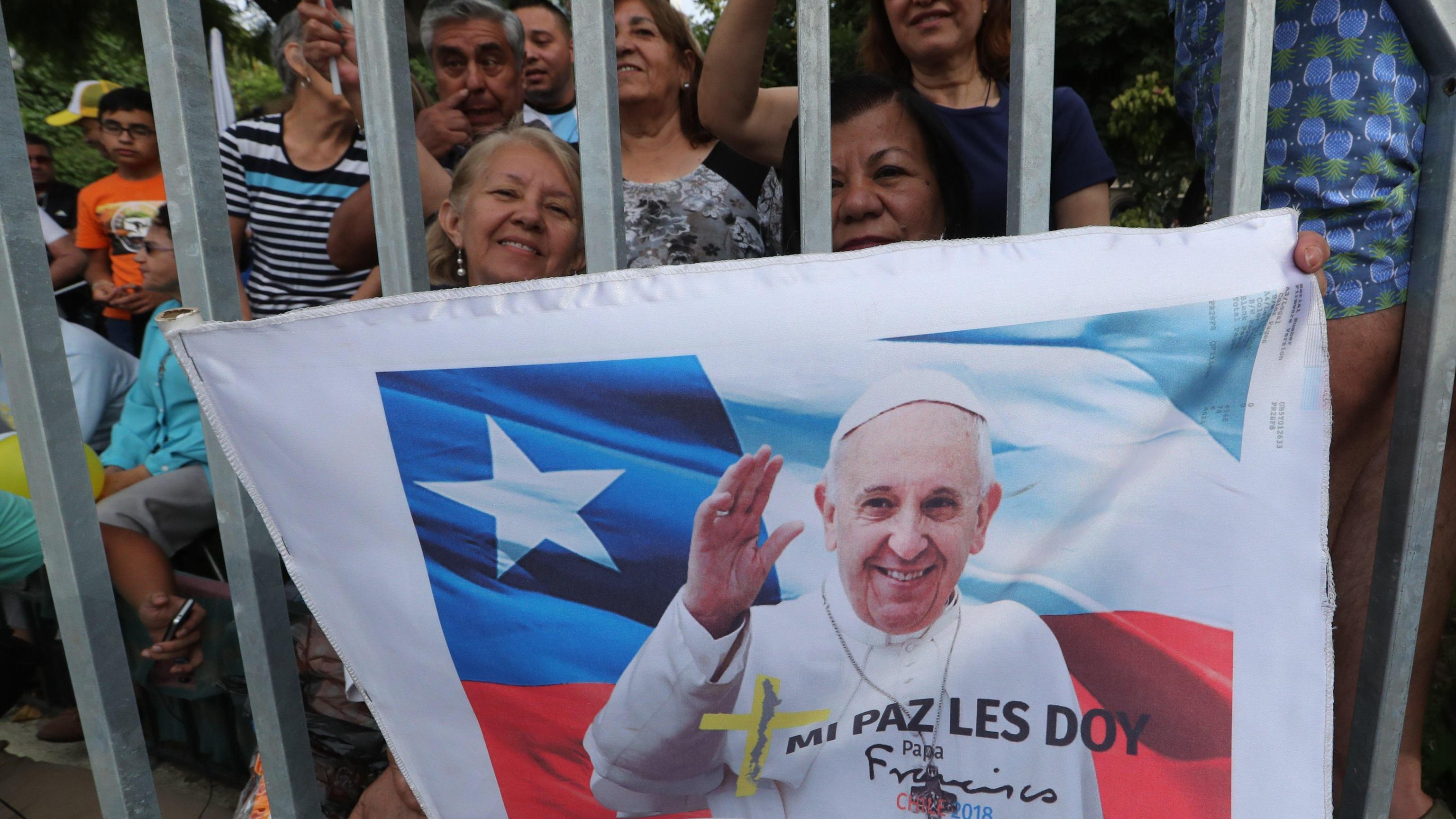 Papa Francesco arrivato in Cile