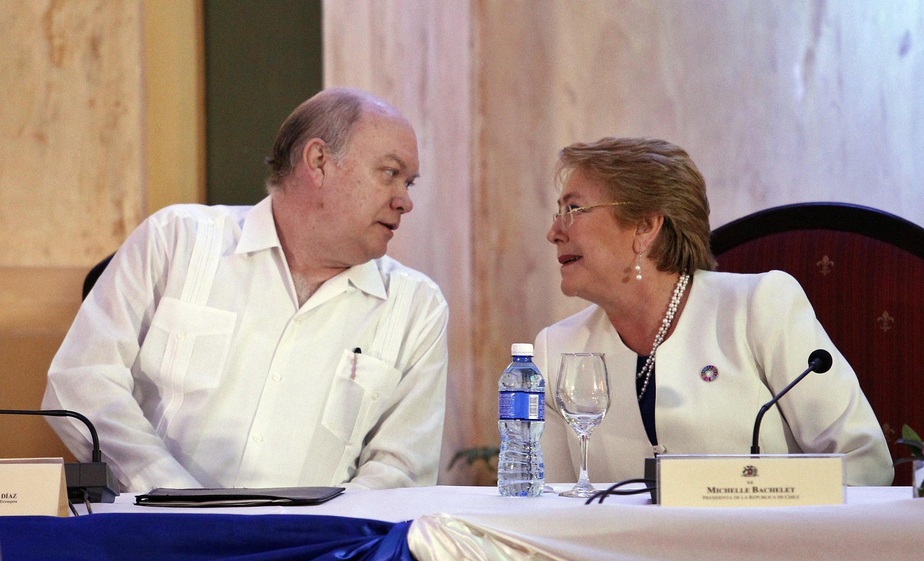 La presidente cilena Bachelet a Cuba