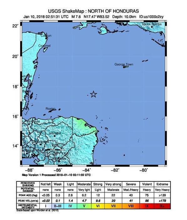 Terremoto nel Mar dei Caraibi 30 volte più violento di Norcia