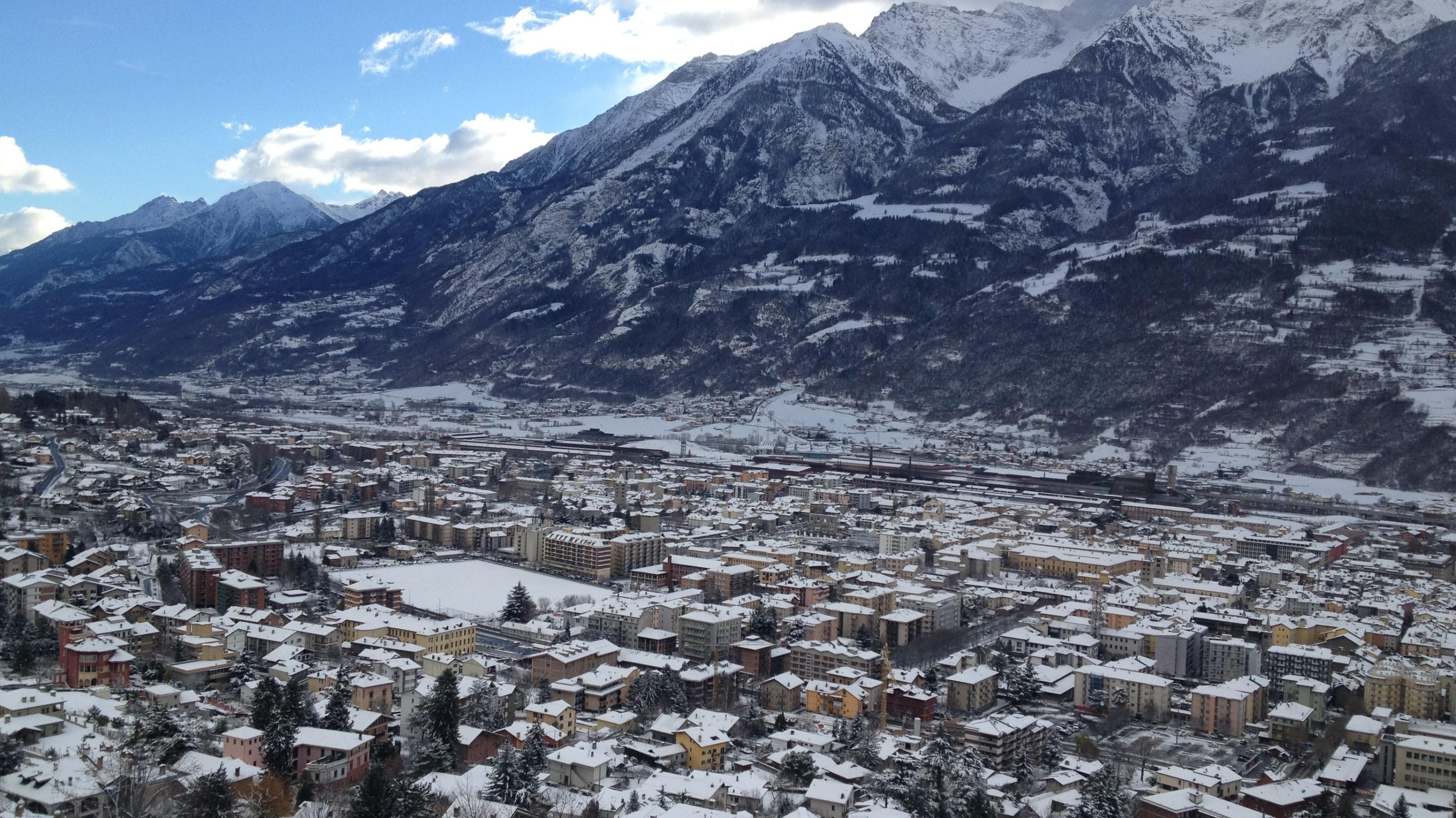 Maltempo, neve in Valle d'Aosta