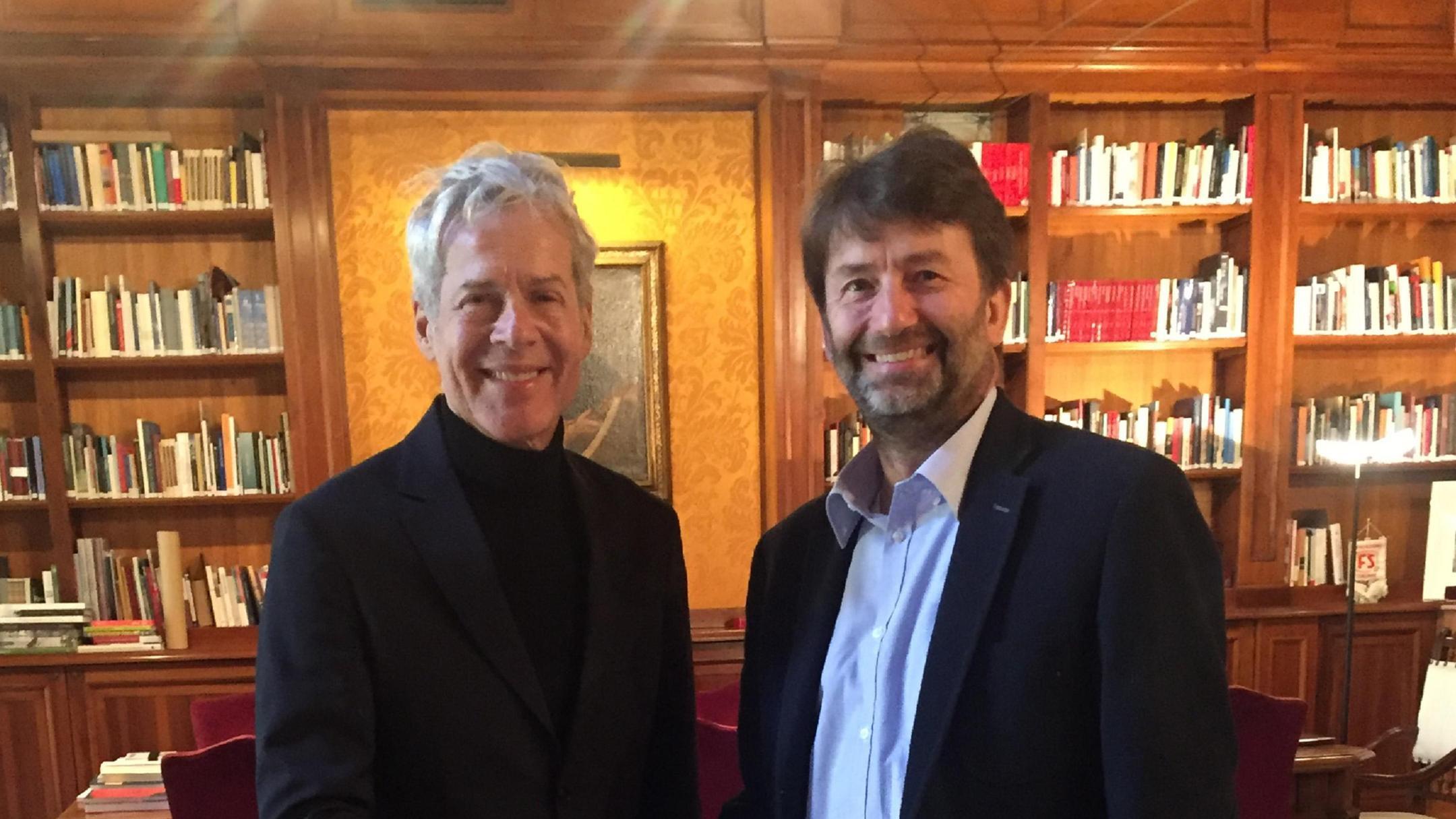 Baglioni racconta Sanremo a Franceschini