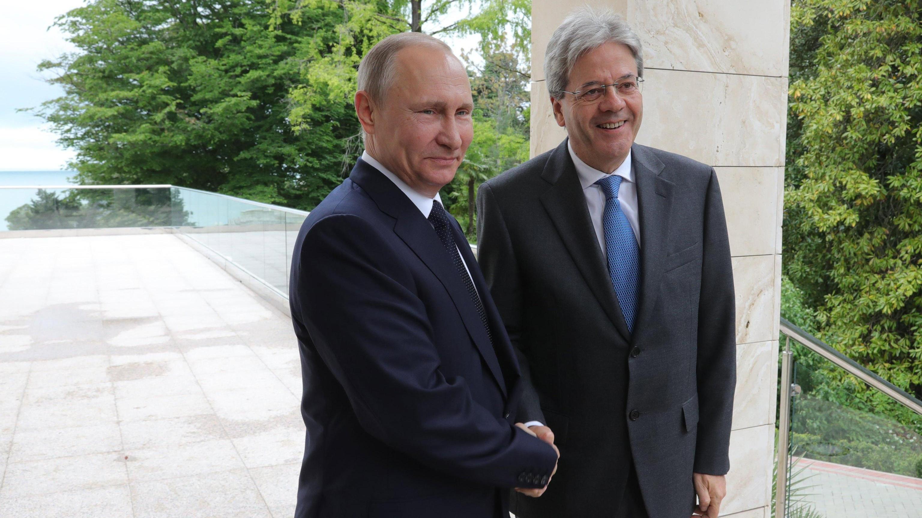 Putin-Gentiloni, impegno per Libia