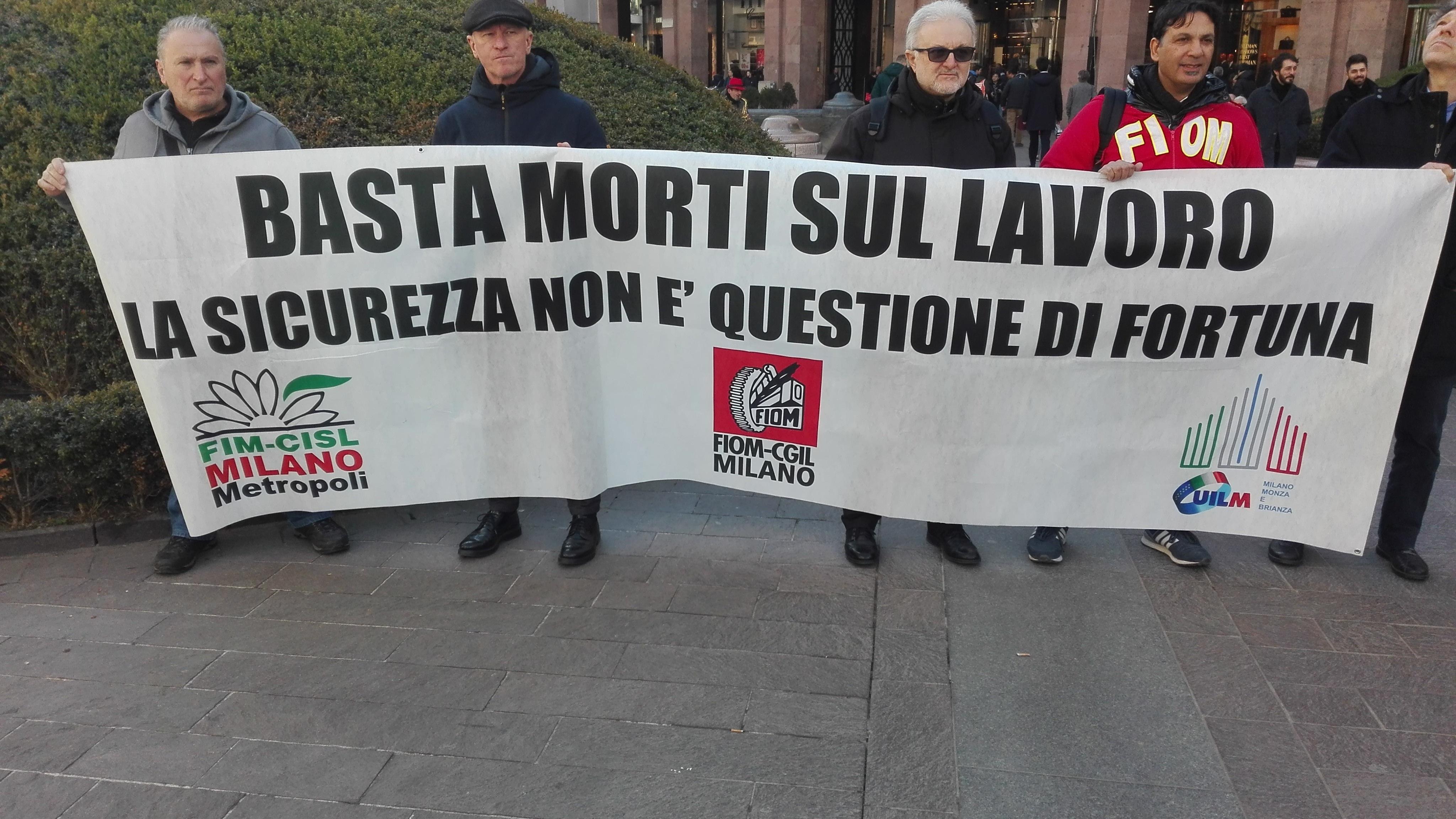 Operai morti, corteo sindacati a Milano