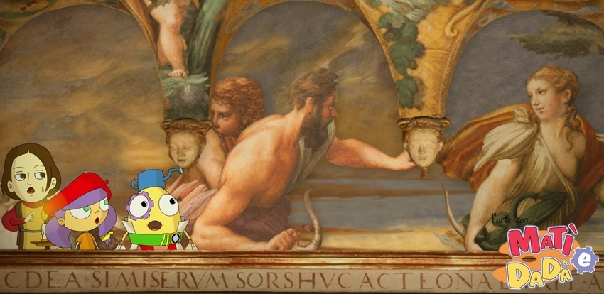 Cartoon per Parmigianino a Fontanellato