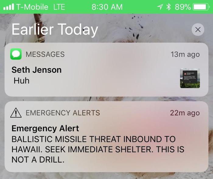 Il governatore delle Hawaii si scusa per falso allarme missile