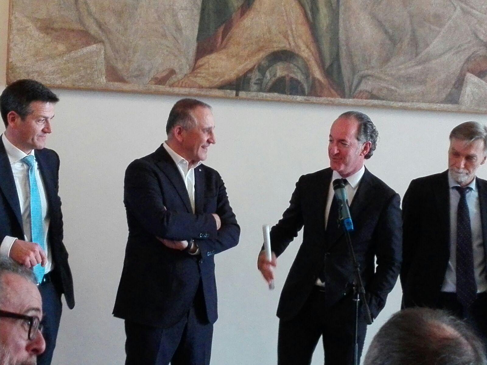 Trenitalia:Veneto firma contratto 4 mld