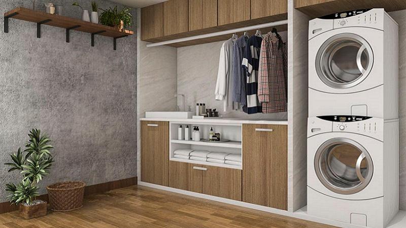 Angolo Lavanderia Cucina : Come scegliere i mobili per un angolo lavanderia piccolo ma funzionale