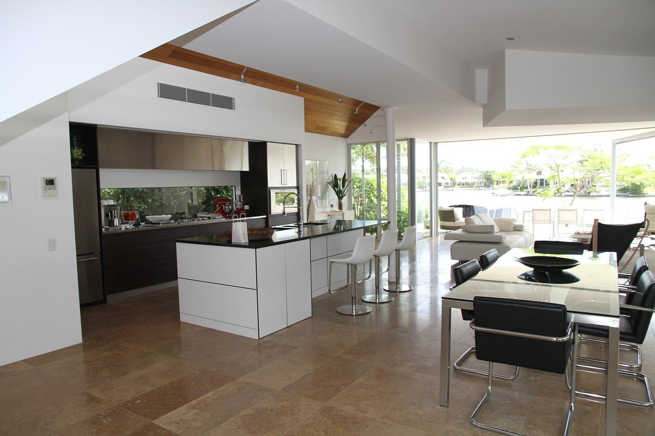 Cucina e soggiorno insieme in unico ambiente progettazione casa