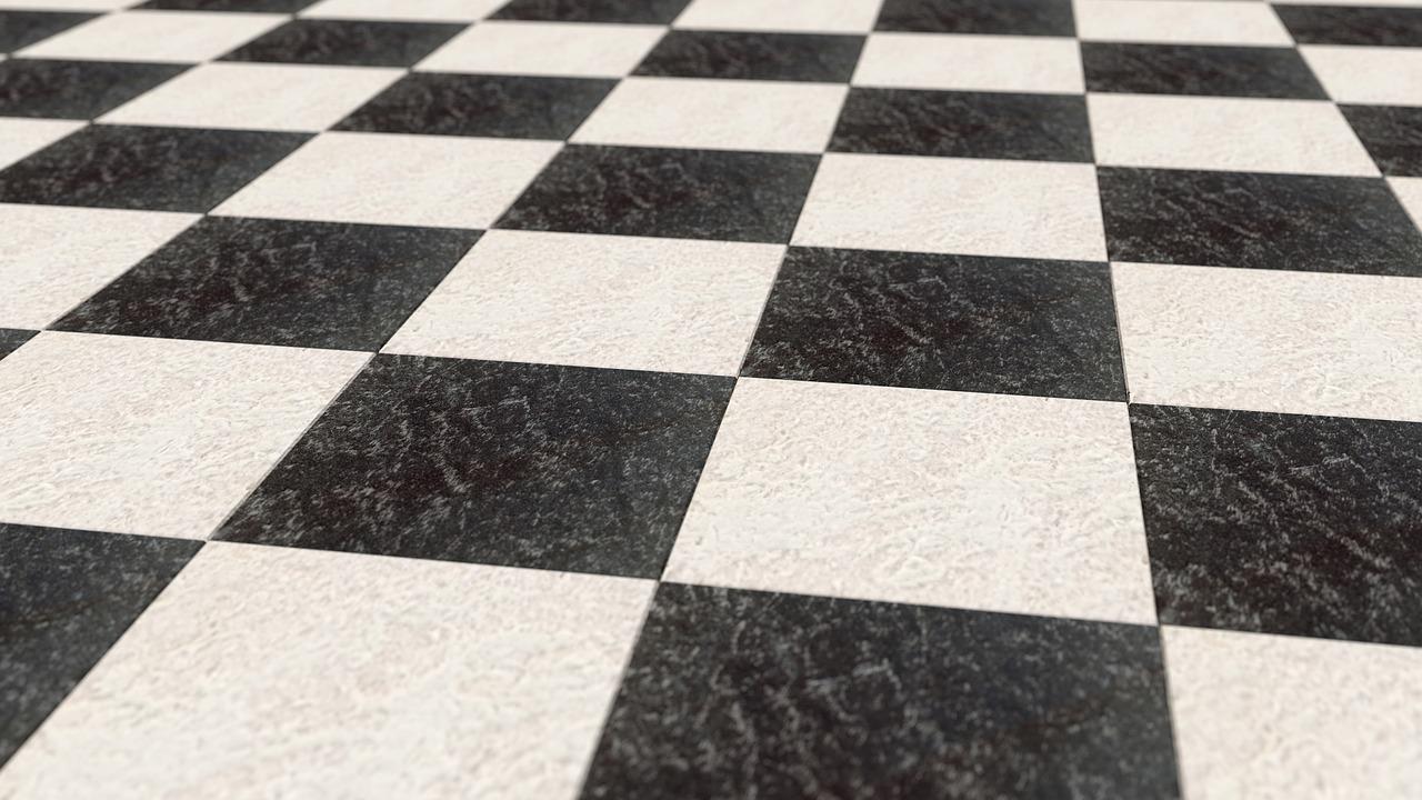 Pavimento a scacchi bianchi e neri idee di design per casa