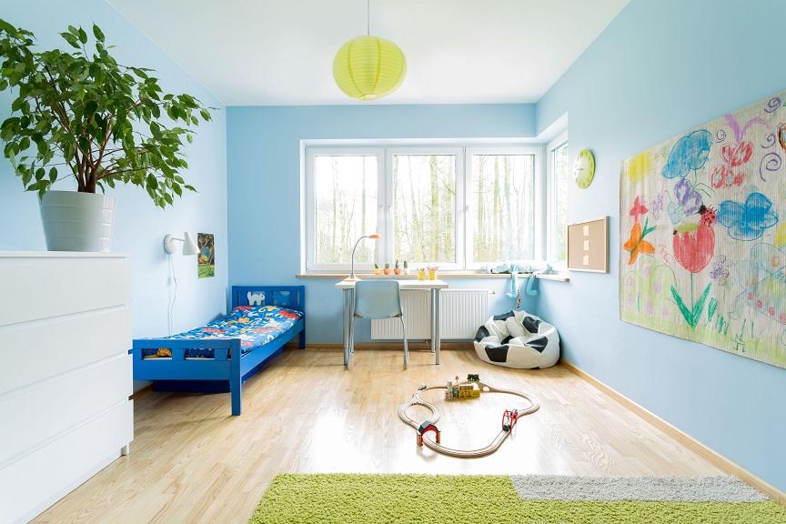 Cameretta Bianca E Azzurra : Idee per dipingere la cameretta dei bambini
