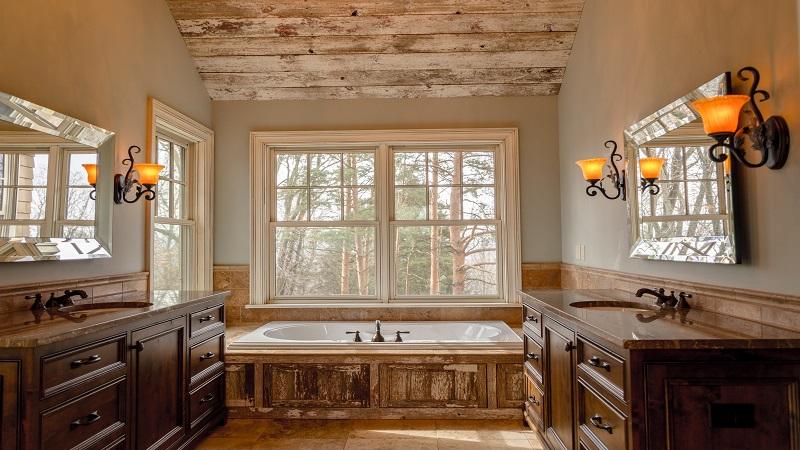 Arredamento Moderno E Rustico : Come arredare un bagno rustico idee e consigli