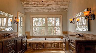 Come arredare un bagno rustico? idee e consigli