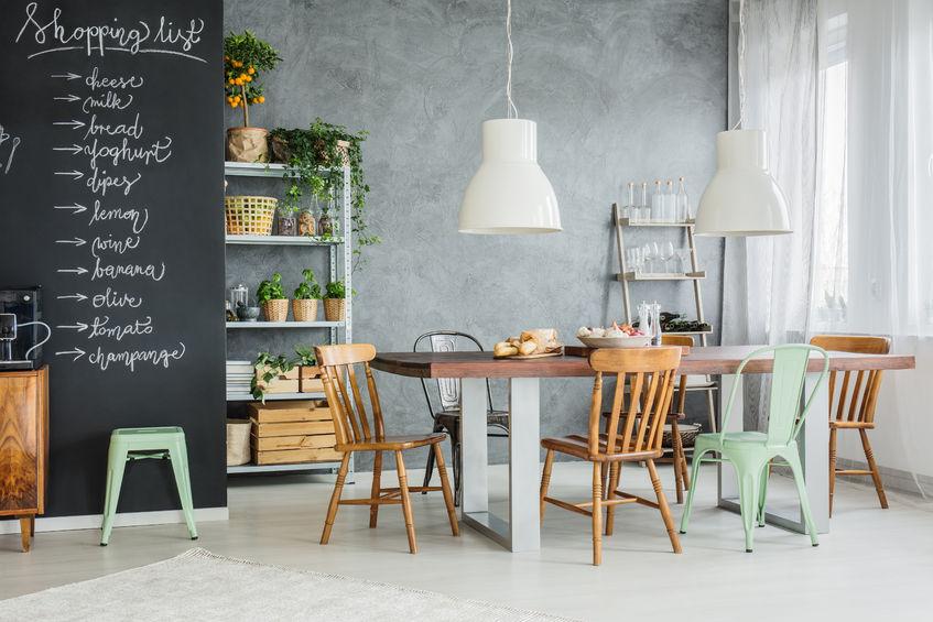 Sgabelli Da Risparmio Casa : Una casa industrial chic lo stile di arredamento del