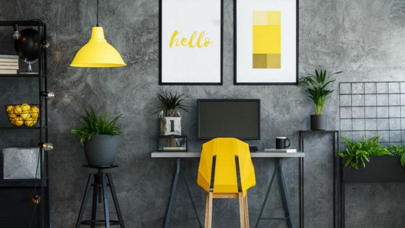 Angolo studio quale colore scegliere per dipingere le pareti