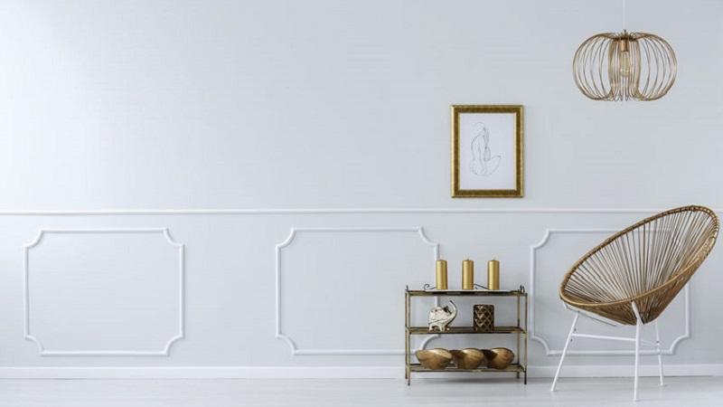 Boiserie Bagno Altezza : Come pitturare casa con la finta boiserie