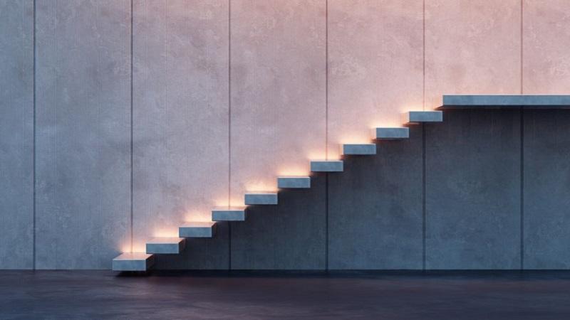 Come illuminare i gradini delle scale interne