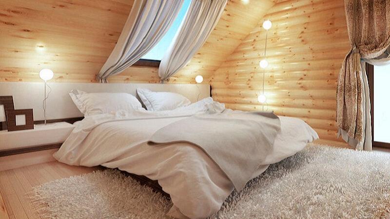 Illuminazione Stanza Da Letto : Idee per illuminare una camera da letto con tetto in legno