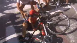 Incidente Nibali, trovato il vero colpevole. Le immagini della caduta