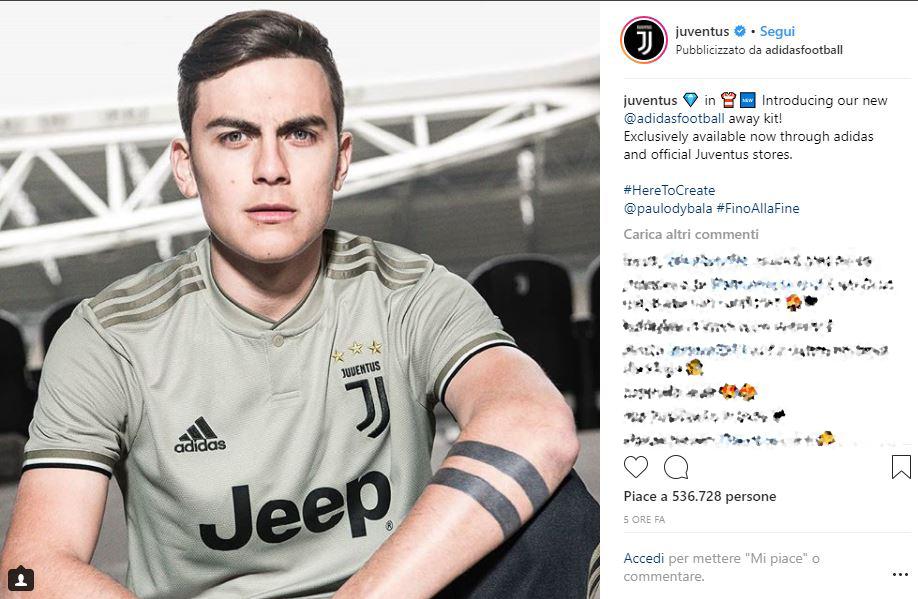 19grigia Della 2018 Maglietta Juventus Seconda La Maglia Juve fg76ybIYv