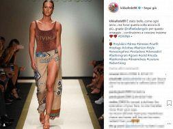 Federica Pellegrini modella alla Milano Fashion Week