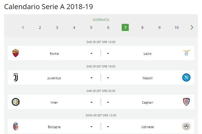 Calendario Partite Sky Dazn.Calendario Serie A 2018 19 Anticipi E Posticipi Tv Fino Al