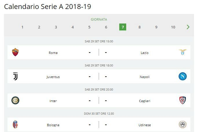 Calendario Milan Anticipi E Posticipi.Calendario Serie A 2018 19 Anticipi E Posticipi Tv Fino Al