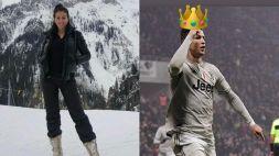 Georgina Rodriguez dalla neve incorona Re Cristiano Ronaldo