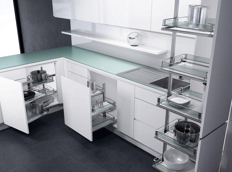 Cucine ad angolo come recuperare lo spazio quando poco - Come progettare una cucina ad angolo ...