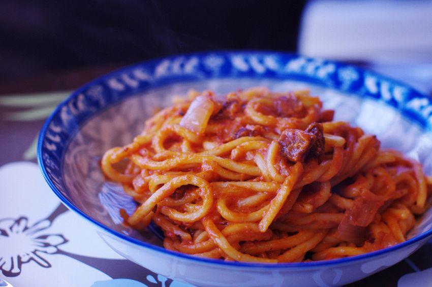 Pasta all'amatriciana, un piatto mitico della cucina romana