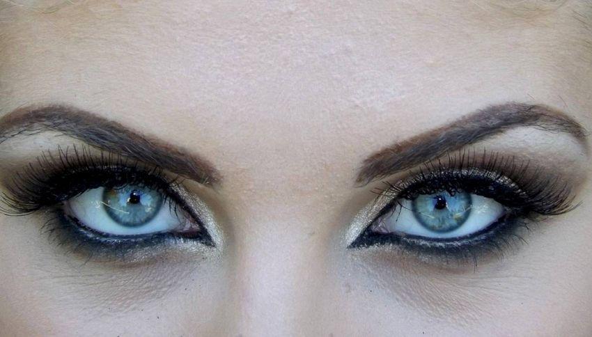 Trucco nero e argento, un tocco di magia per il vostro viso