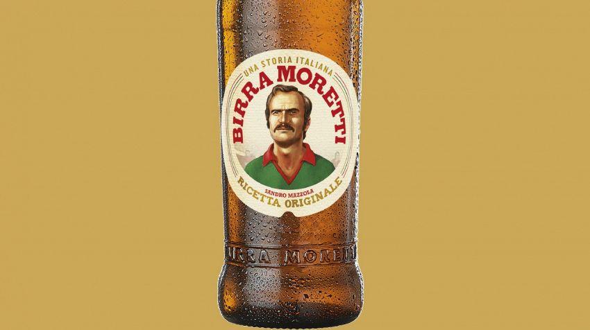Birra Moretti celebra i più famosi calciatori con i baffi