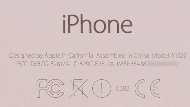 Che cosa significano i simboli sul retro di iPhone?