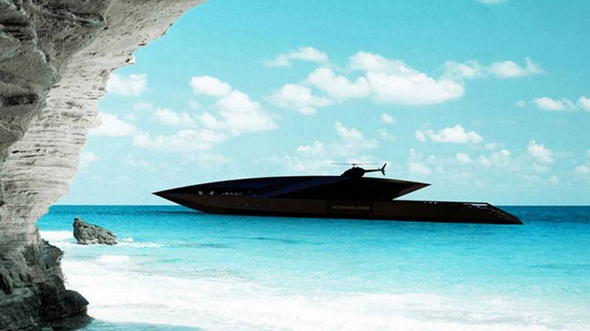 Si chiama Cigno Nero, è lo yacht degno dei cattivi di James Bond