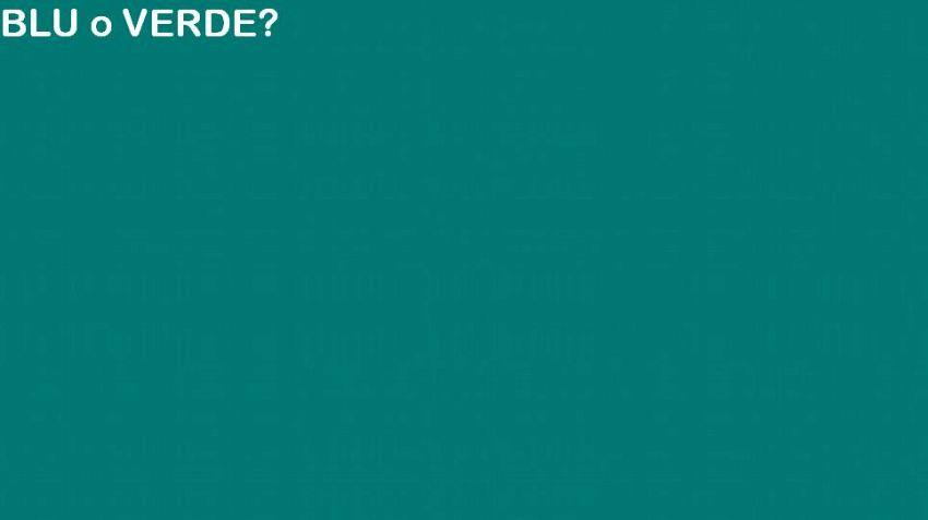 Blu o verde? Il nuovo quiz che fa impazzire il web