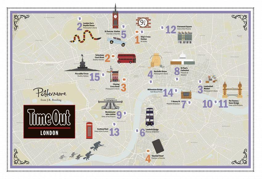 La mappa turistica di Harry Potter, un buon motivo per visitare Londra
