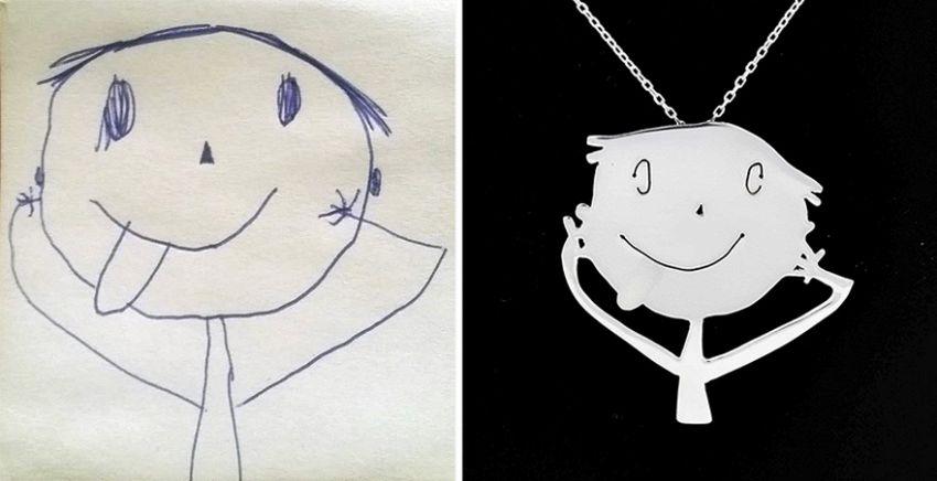 Una coppia di mamme trasforma i disegni dei bambini in gioelli