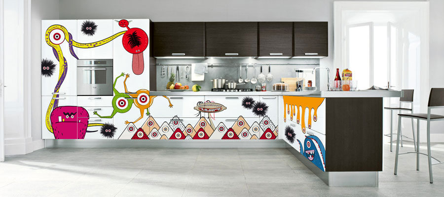 Decorare le ante della cucina con gli sticker - Decorare le ante ...