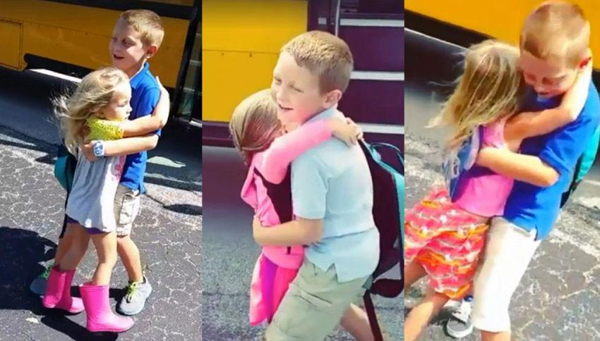 L'amore tra sorella e fratello: in un video di 3 minuti tutta l'emozione