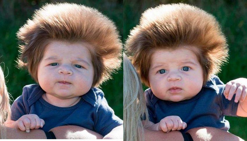 Junior Cox-Noon, il neonato più capellone del mondo: incredibile ma vero