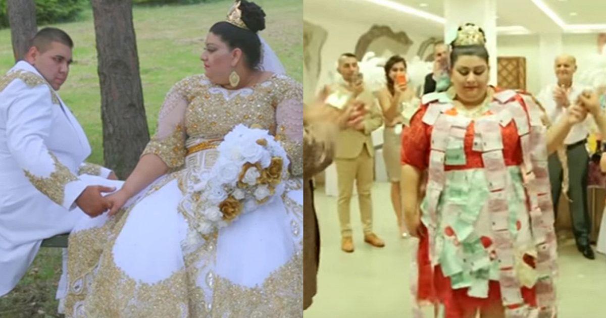 Il Matrimonio Gipsy : Le nozze più tamarre del secolo oro e soldi ovunque
