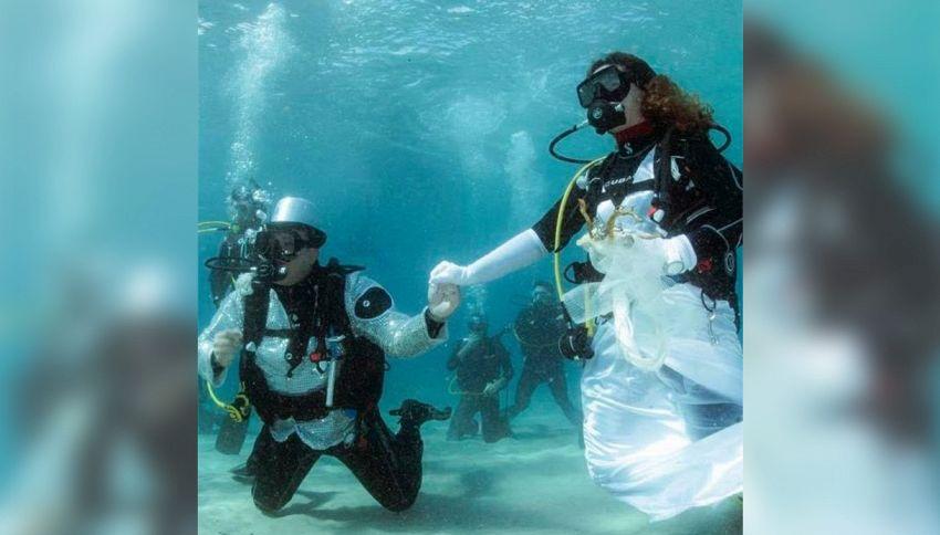 Matrimonio a 4 metri sott'acqua con 40 invitati