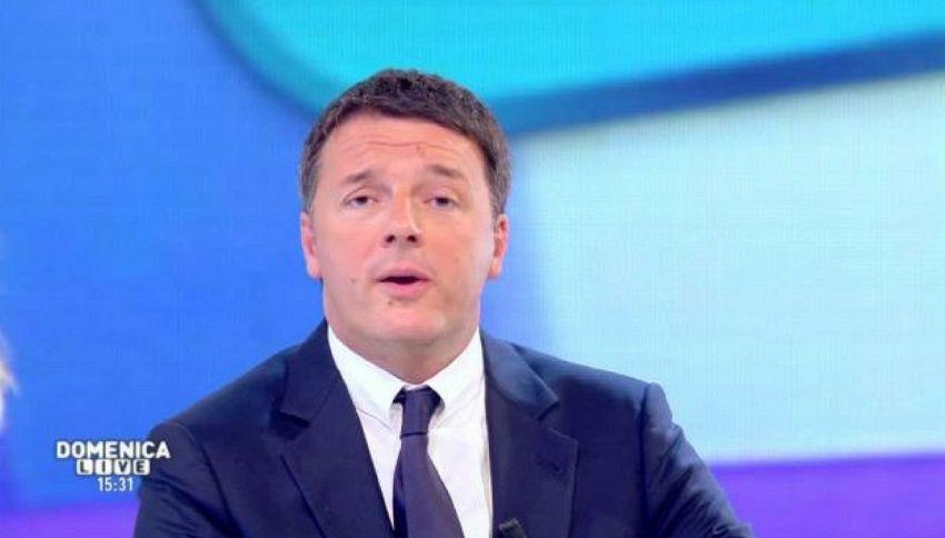Il w.e. da paura di Renzi: prima canta poi ruba il mestiere alla D'Urso