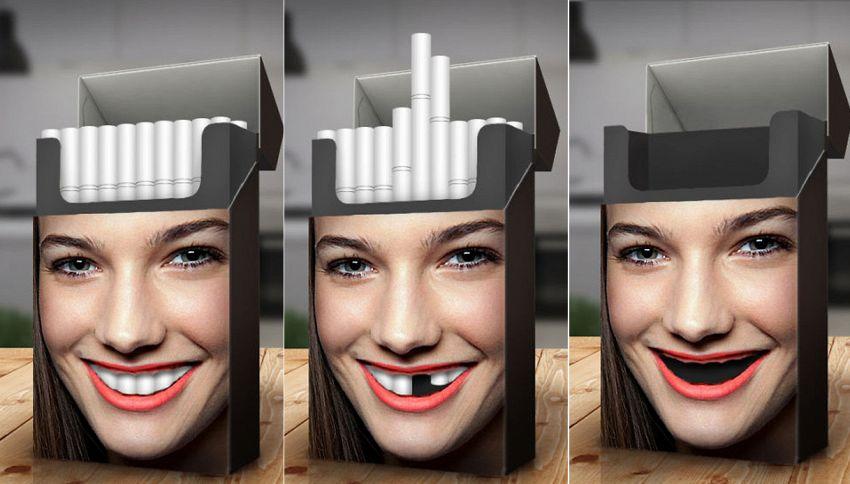 Il pacchetto di sigarette che ti farà passare sicuramente la voglia di fumare